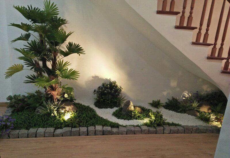 Lưu ý về cây, vật liệu thiết kế tiểu cảnh sân vườn