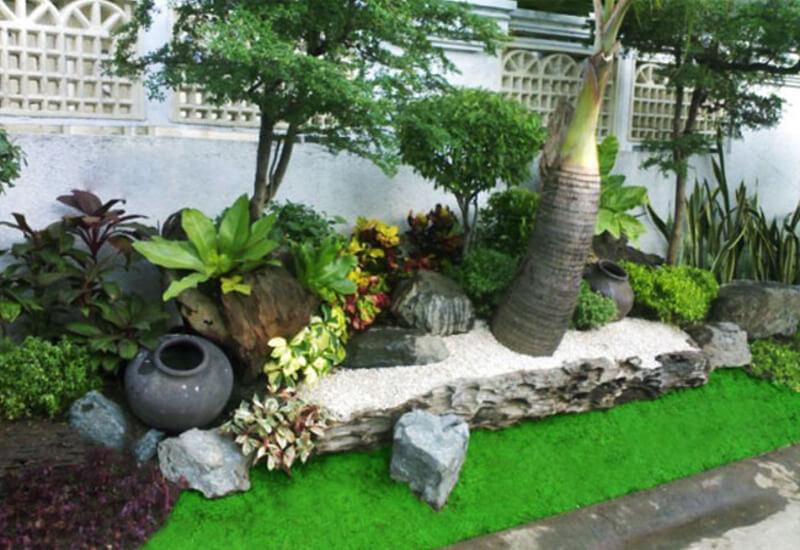 Mẫu tiểu cảnh sân vườn đơn giản, đẹp mắt